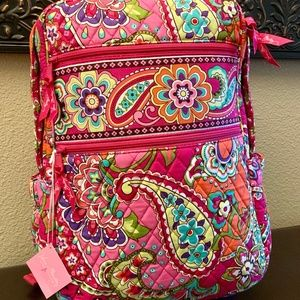 NWT Vera Bradley Pink Swirls Tech Backpack Retired